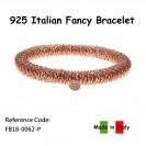 Italian Bracelet - Elastic - Rose Gold